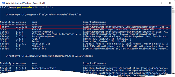 blog atwork at | Azure Active Directory PowerShell Module V2