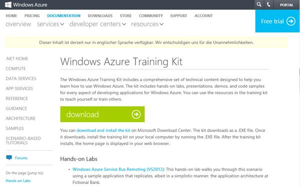 Windows-Azure-Training-Kit