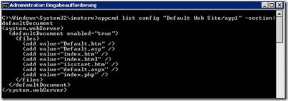 appcmd-list-config