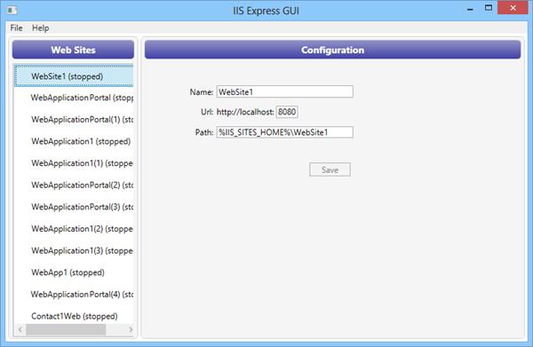 iis-express-gui