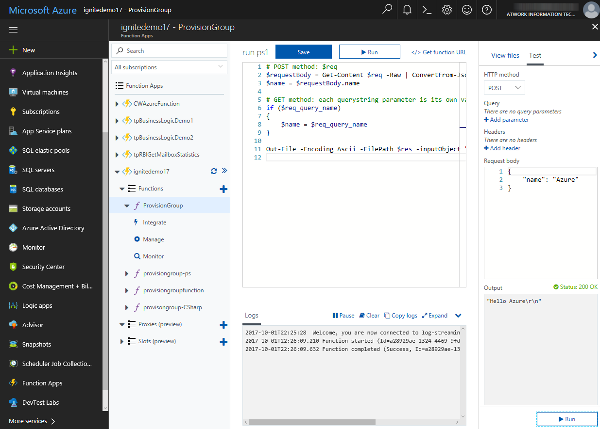 blog atwork at | Provisioning an Office 365 group with an approval