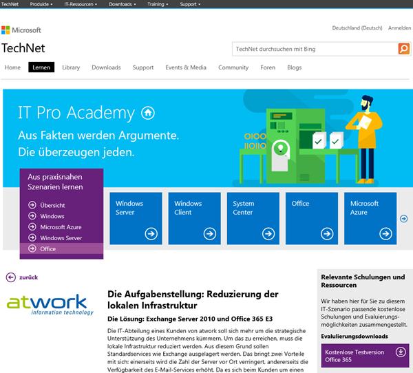 atwork auf TechNet IT Pro Ac ...