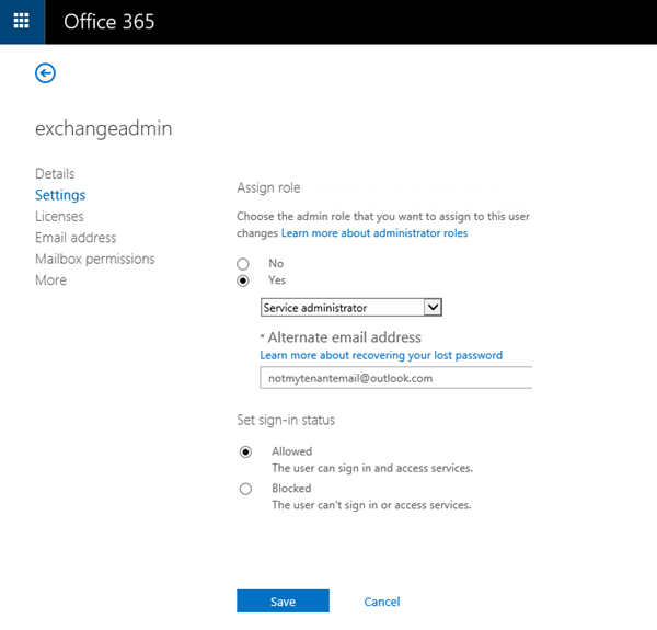 How to setup an Exchange Admin in Office 365 (and use this