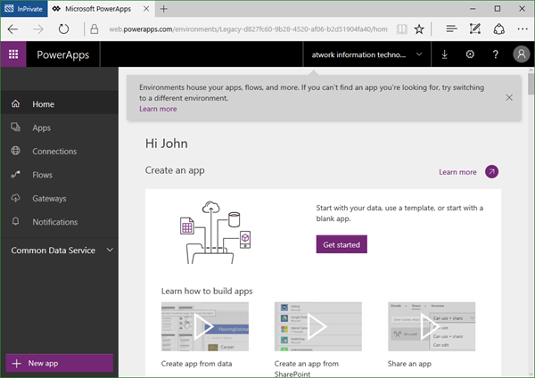 blog atwork at | Tips for PowerApps-(When) does a user need