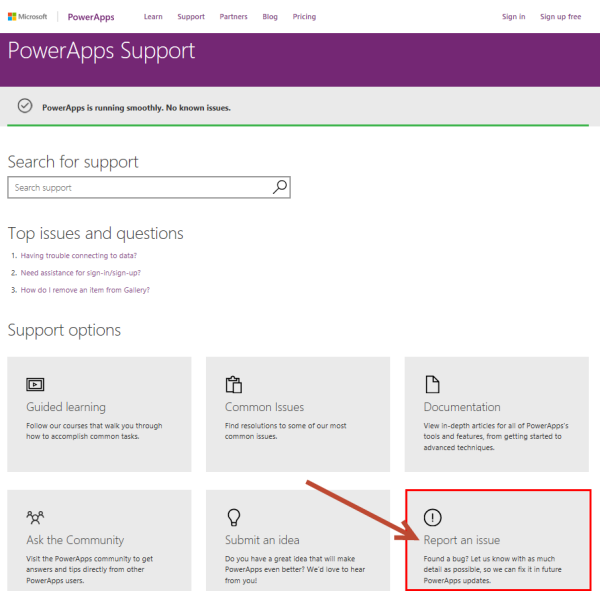 blog atwork at | Tips for PowerApps-issues and status
