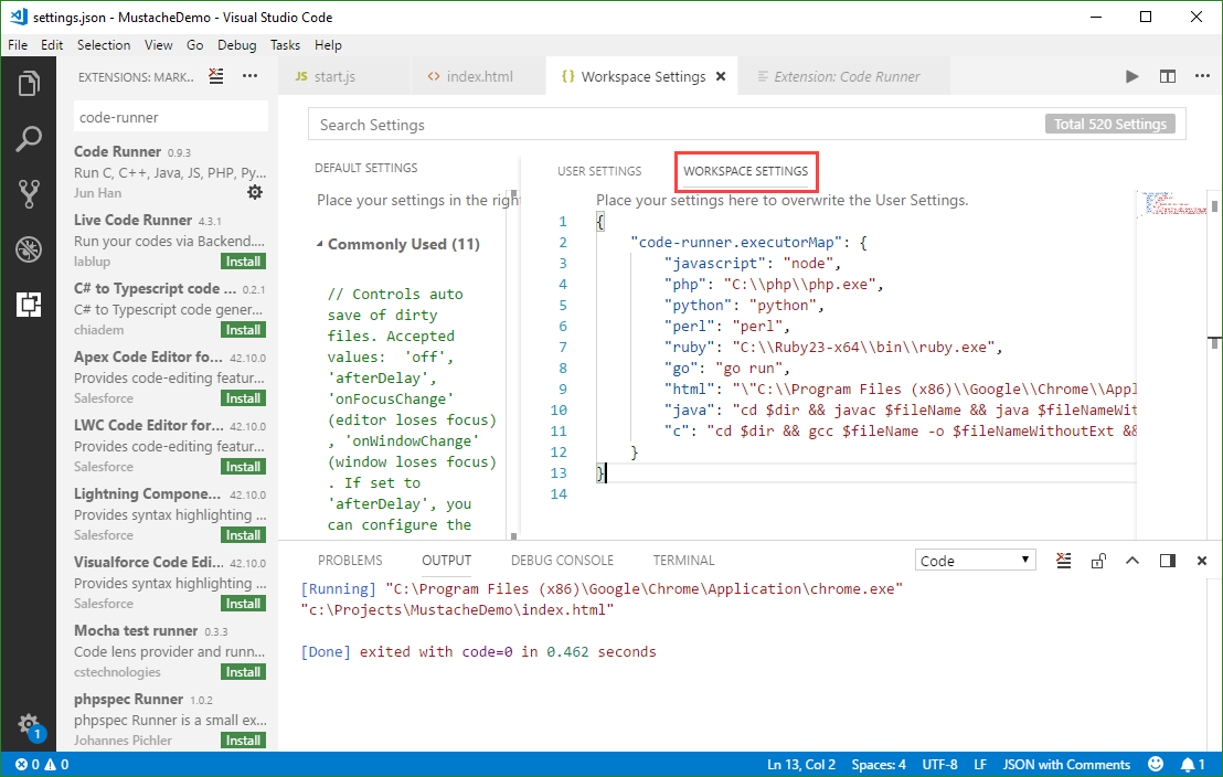 blog atwork at | Use Visual Studio Code and the Code Runner
