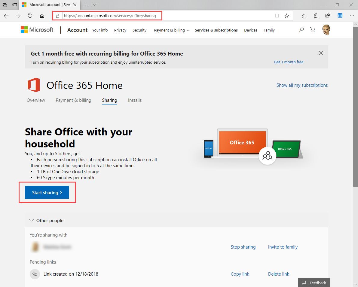 Rinnovare Microsoft 365 per privati - Supporto di Office
