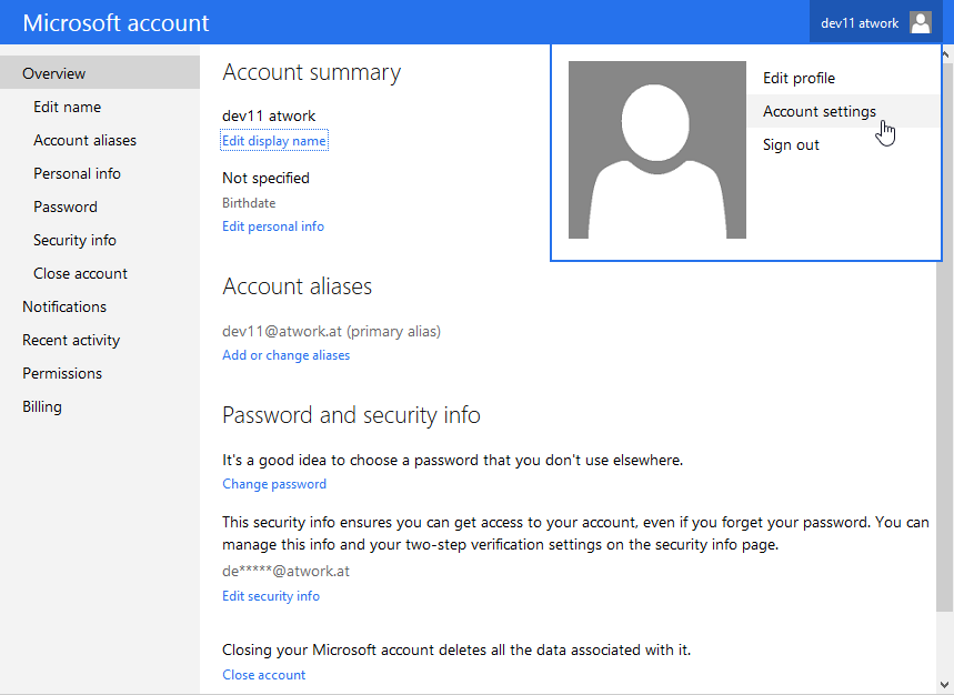 blog atwork at | How to change a Microsoft Account for two factor