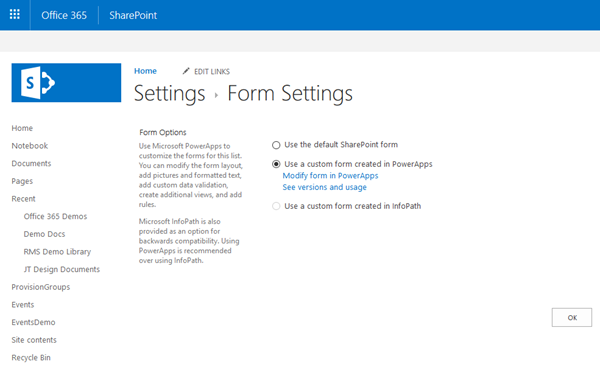 Tips for PowerApps-Using SharePoint Customize forms with