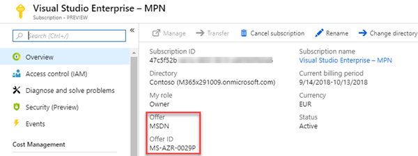 atwork blog | How to associate an Azure subscription owned by a MSA