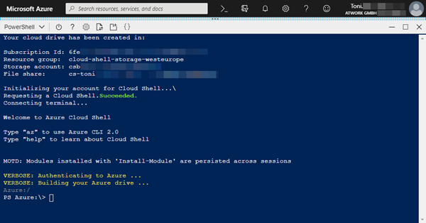 Working with the new Azure PowerShell Az module