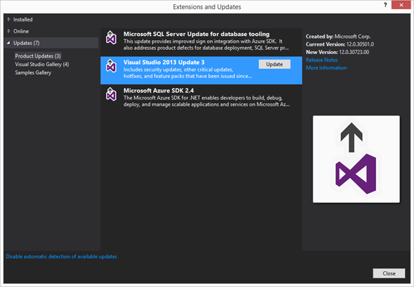 Visual Studio 2013 Update 3 ...