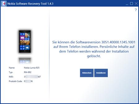 Vorsicht bei Lumia 925, dem ...