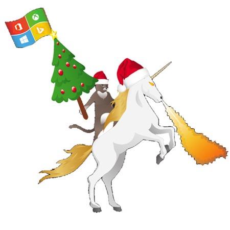 xmas Windows Unicorn